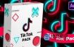 AE模板-TikTok抖音快手短视频点赞转发关注订阅各种图标元素动画 TikTok Pack