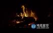 视频素材-慢动作的壁炉火焰延时拍摄