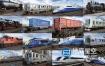 3D模型-36个火车动车高铁地铁站火车站铁路配套模型合集