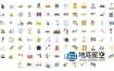 AE模板-100个企业建筑工业施工水泥机械元素图标动画 Construction & Industrial Icons