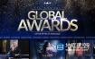 AE模板-华丽优雅闪耀粒子公司企业年会晚会活动颁奖典礼开场片头包装 Global Awards Pack