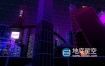 视频素材-三维电子全息背景街机图霓虹灯未来城市建筑视频素材