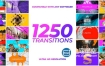 视频素材-1250个多边形彩色图形蒙版遮罩蒙太奇信号故障转场过渡动画 Transitions