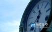 视频素材-钟表时间指针流逝老房子延时拍摄视频