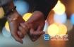 视频素材-城市实拍浪漫情侣牵手视频