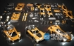 3D模型 -赛车汽车Kitbash3D – Veh: Supercars
