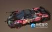 3D模型-帕加尼Zonda非主流涂鸦射击车C4D模型