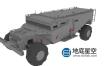 3D模型-轮式黑色武装战车C4D模型