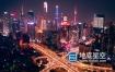 视频素材-航拍广州CBD城市繁华夜景4k素材