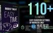 AE模板-110个模拟数字时钟倒计时秒表容量科技感进度条霓虹灯图形动画 Countdown Timer toolkit