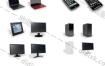 3D模型-35个数码科技电子产品 显示器 音箱 机箱 笔记本 相机 手机 游戏机模型含贴图