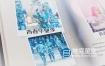 AE模板-青春毕业季书本翻页相册动画