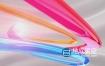 AE模板-彩色玻璃质感标志LOGO演绎片头动画