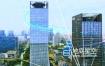 视频素材-4K商务大楼科技数字粒子光线特效合成