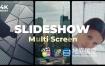 FCPX插件-时尚动感多屏幕视频分屏展示开场片头 Multi Screen Slideshow