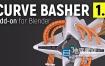 Blender插件-三维电缆曲线链接生成器 Curve Basher V1.3 Rev 3