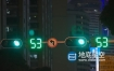 视频素材-实拍深圳夜晚城市马路红录的街道交通车流人流