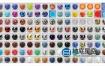 Blender预设-200组真实材质预设 Real Time Materials