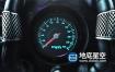 AE模板-震撼跑车汽车速度表盘指针转动翻转后揭示出logo标志动画