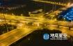 视频素材-4k城市立交桥高架桥道路夜景环绕车流延时视频