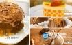 AE模板-食物甜点图片分屏展示动画