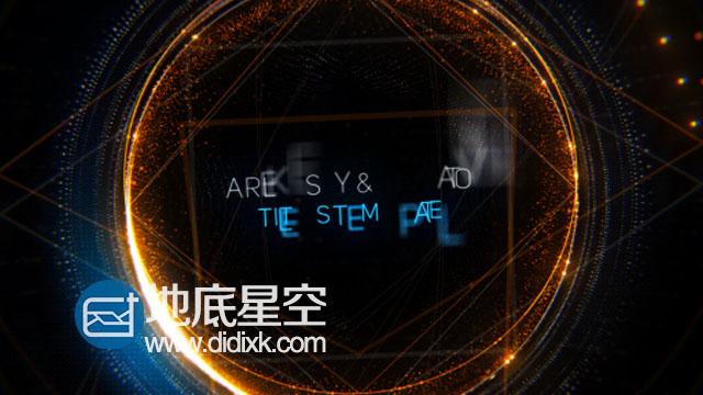 AE模板科技动感标题粒子特效宣传片头动画