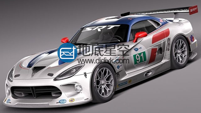 3D模型道奇蝰蛇跑车模型 SQUIR – Dodge Viper GTS-R 2013