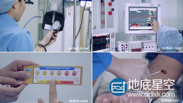 实拍视频:手术ICU病房重症病人护理视频素材