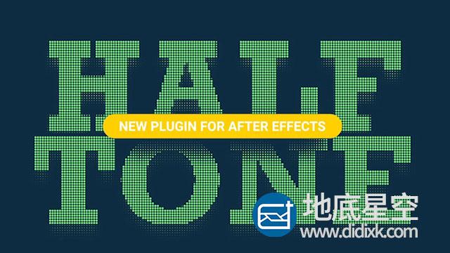 AE插件:中色调网格圆点填充 AESweets Halftone V1.0.5