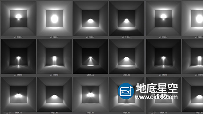 C4D预设- IES灯光预设(.lib4d,含有150个常用IES灯光  )Free IES Library for Cinema 4D