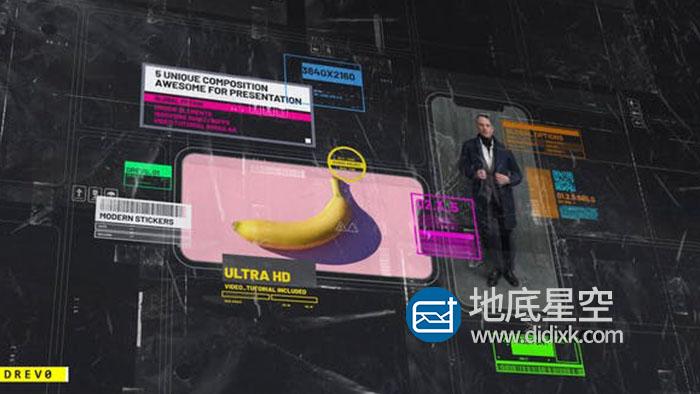 AE模板-动感科技科幻屏幕公司企业产品宣传片头动画