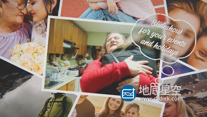 AE模板-时尚旅游照片生日相册视频包装片头 The Movie Photo Slideshow