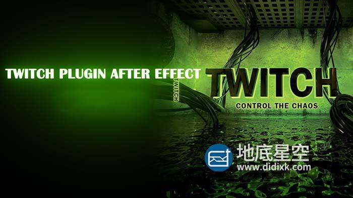 AE插件-Video Copilot Twitch 信号干扰震动抖动插件