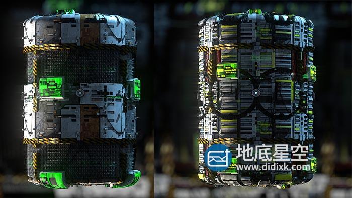 材质贴图-80幅科幻硬面模型深度贴图素材