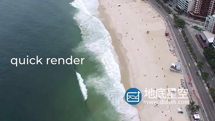 达芬奇模板-简洁电影电视预告片文字标题字幕介绍动画 Cinematic Dynamic Opener