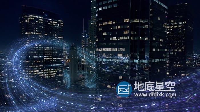 素材视频-未来高科技数字化信息时代5g科幻粒子触摸屏