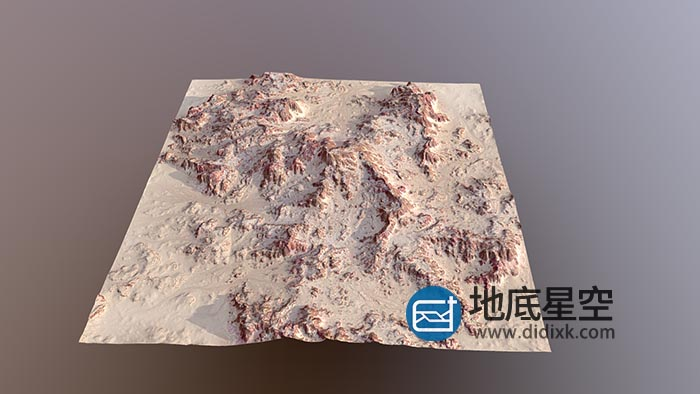 C4D模型-岩石沙漠地形模型