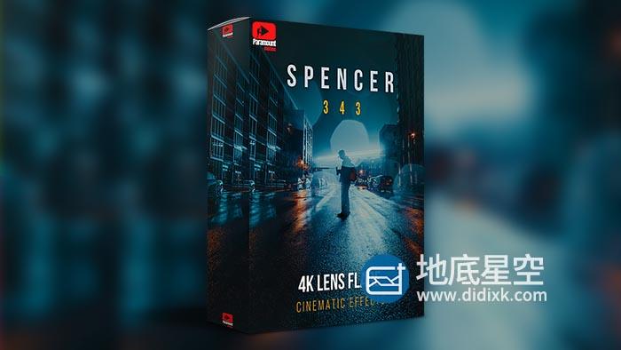 视频素材-343个唯美梦幻优雅电影镜头光晕效果4K视频动画 SPENCER Cinematic Lens Flares