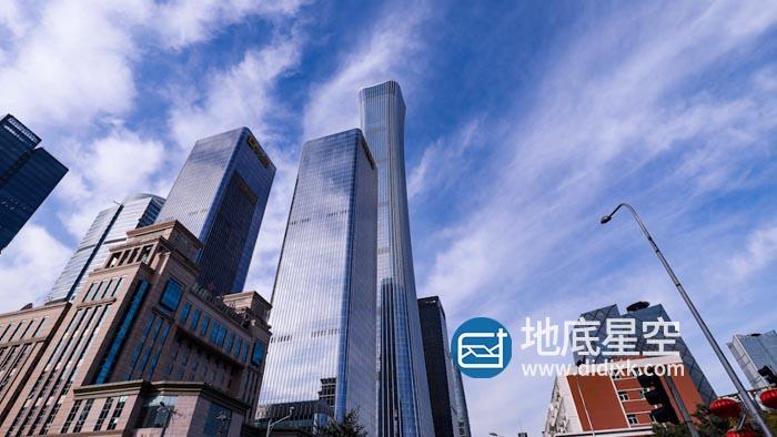 视频素材-北京地标建筑第一高楼中国尊
