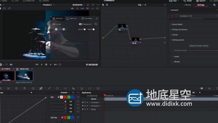 达芬奇插件-摄像机色彩空间匹配调色插件 CineMatch v1.053 Mac苹果版