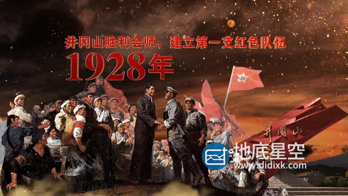 AE模板-大气震撼的100周年历史大事记展示