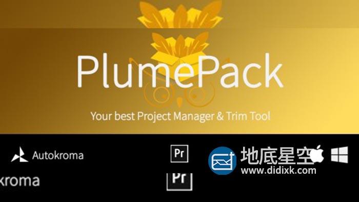 PR脚本-工程素材剪切整理打包脚本 Aescripts PlumePack V1.1.0