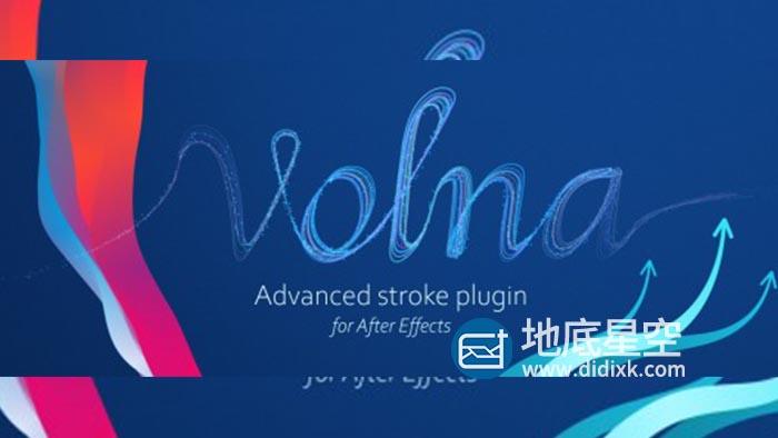 AE插件-动态路径描边生长动画 Aescripts Volna v1.3.2 Win/Mac