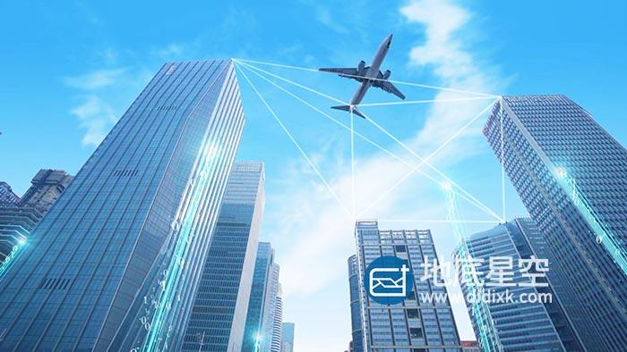 视频素材-城市建筑CBD科技粒子光线特效合成视频