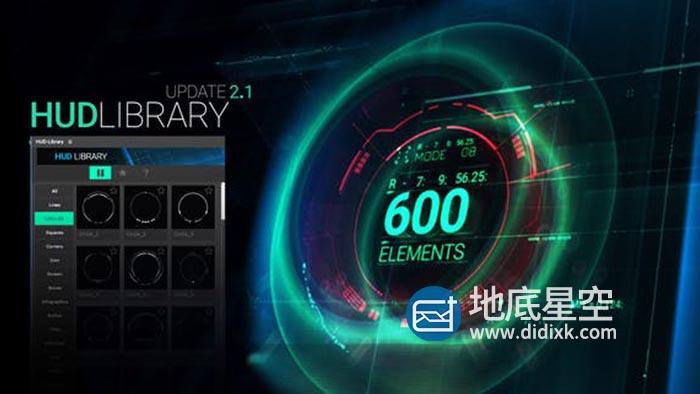 AE脚本-640个高科技感全息UI屏幕界面线条边框元素动画预设包 V2.1