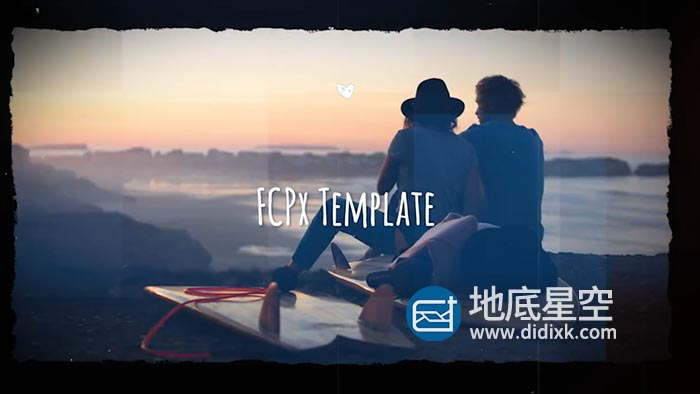 FCPX模板-唯美回忆旅游纪念日照片相册片头 Beautiful Slideshow