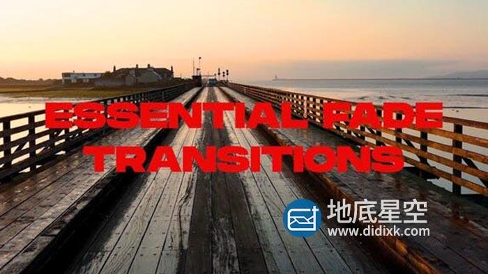 达芬奇预设-25种基本淡入淡出特效视频信号故障蒙版无缝转场过渡 Essential Fade Transitions
