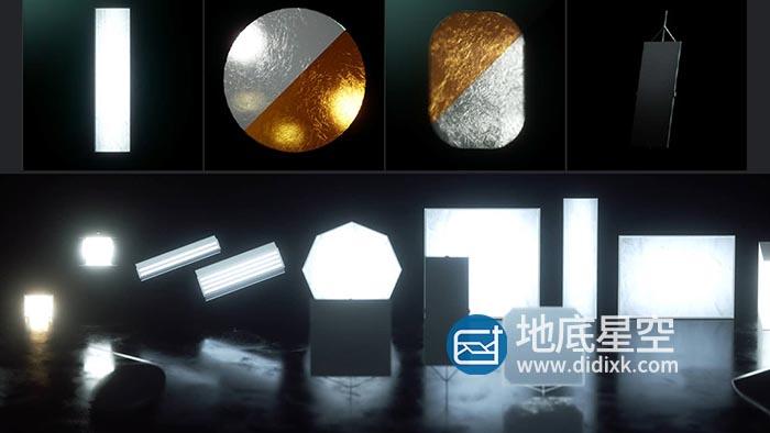 C4D OC灯光预设-一套Octane产品灯光预设产品摄像机预设V1.2