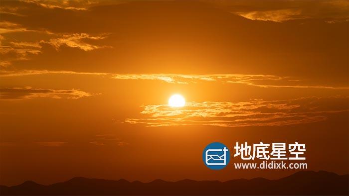 视频素材-唯美的夕阳日落太阳下山自然风景延时视频