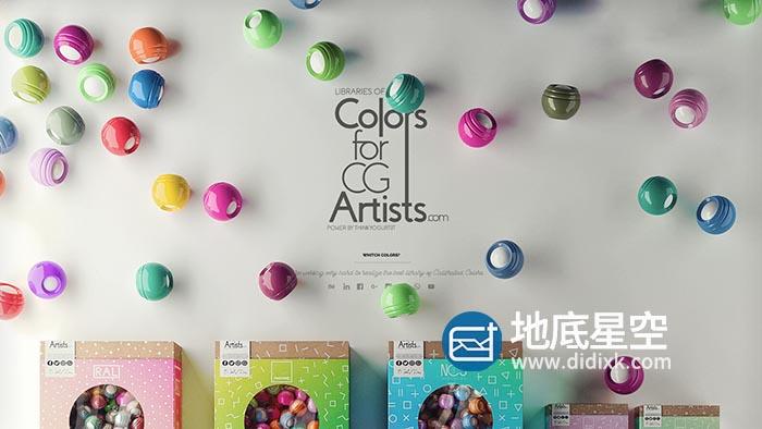3DS MAX Corona渲染器色卡预设包 ColorsForCGArtists – Tools For Corona V5